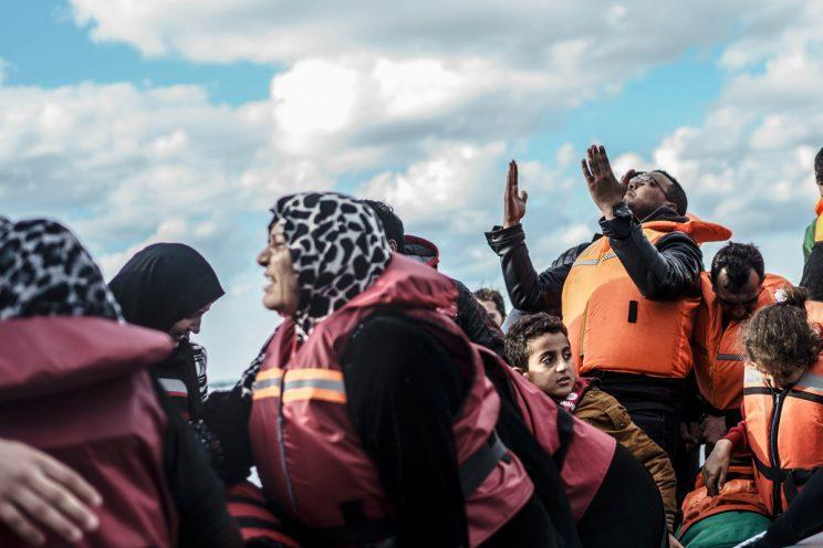 The far-right group is hoping to disrupt the rescue boats, full of women and children (Rex)