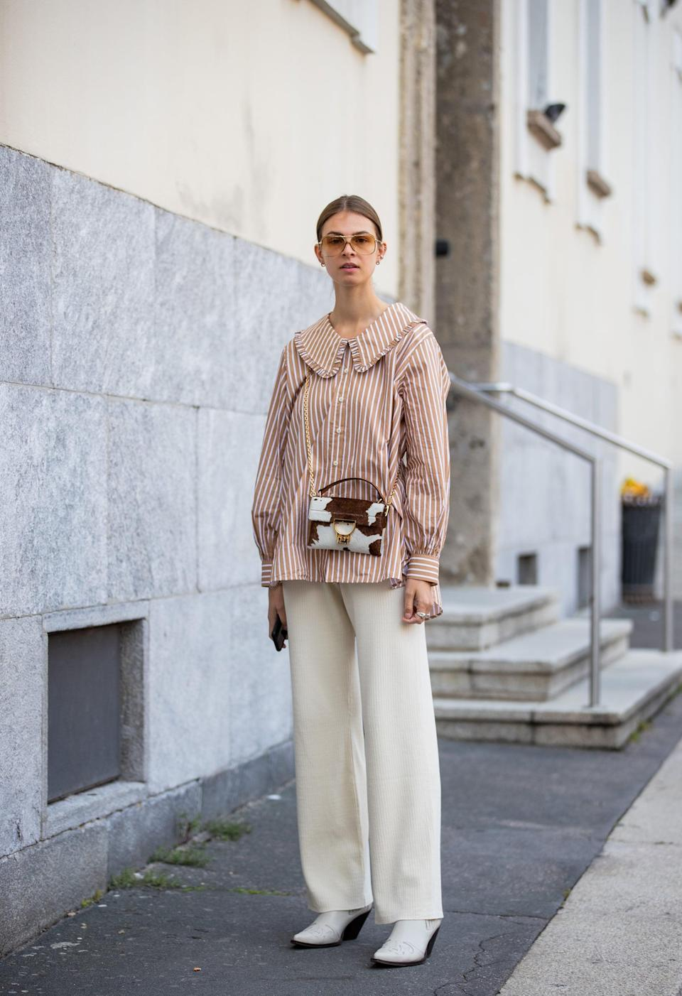 <p>The statement collar is still a big trend this season and updates any look.</p>