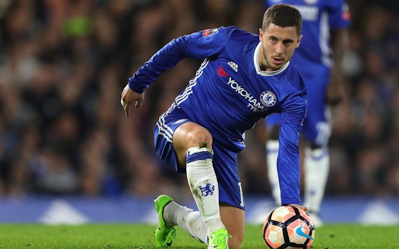 Eden Hazard is struggling with a calf injury - Rex Features