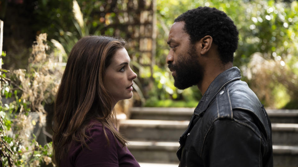 Locked Down, starring Anne Hathaway and Chiwetel Ejiofor. (Photo: HBO Max)