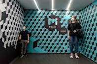 """The """"Ames Room"""" at Zagreb's Museum of Illusions"""