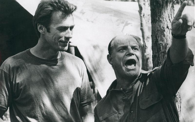 Clint Eastwood with Don Rickles on the set of Kelly's heroes - Credit: Rex