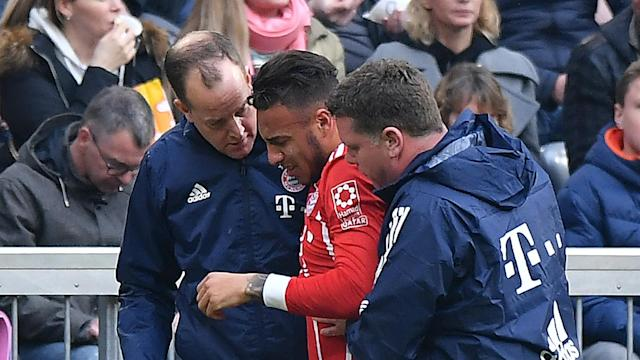 Although there were initial fears the France international had sustained a serious injury, Bayern confirmed Corentin Tolisso has bruising.
