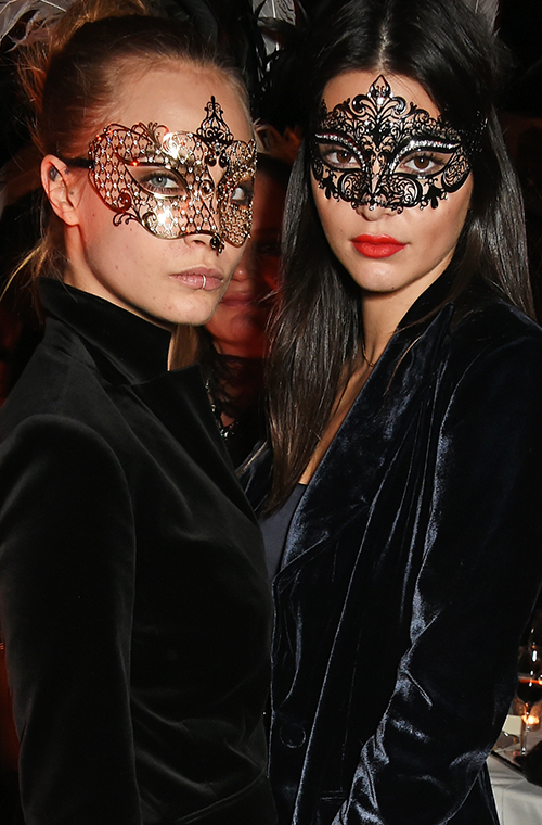 <p>We're pretty sure this pair bonded over their amazing ability to look fierce in front of the camera, no matter what they're wearing. This picture of them both wearing masks while still managing to pull off a stellar pose is just one example. We think Tyra Banks would be proud of that smizing.</p>