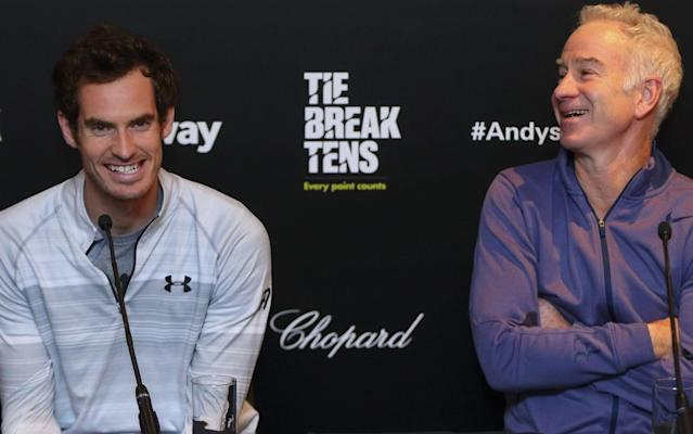 John McEnroe (right) believes Andy Murray can still beat any of the 'big four' on his day, providing he can once and for all shake off his hip problems - Getty Images Sport