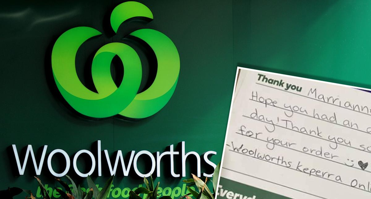 Woolworths customer gushes over unexpected gift in delivery