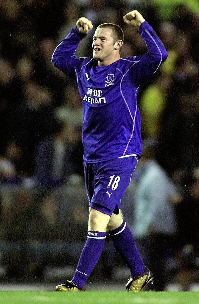 Rooney was just 18 when he scored the last goal of his first spell at Everton