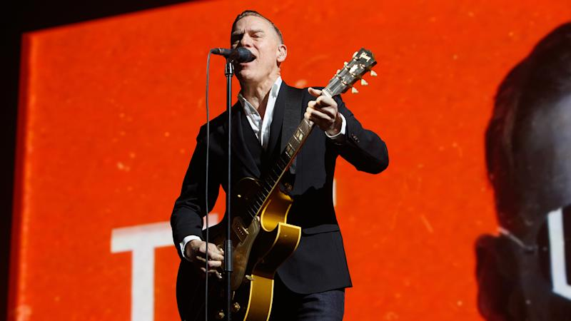 LONDON, ENGLAND - FEBRUARY 27: Bryan Adams performs at The SSE Wembley Arena on February 27, 2019 in London, England. (Photo by Burak Cingi/Redferns)