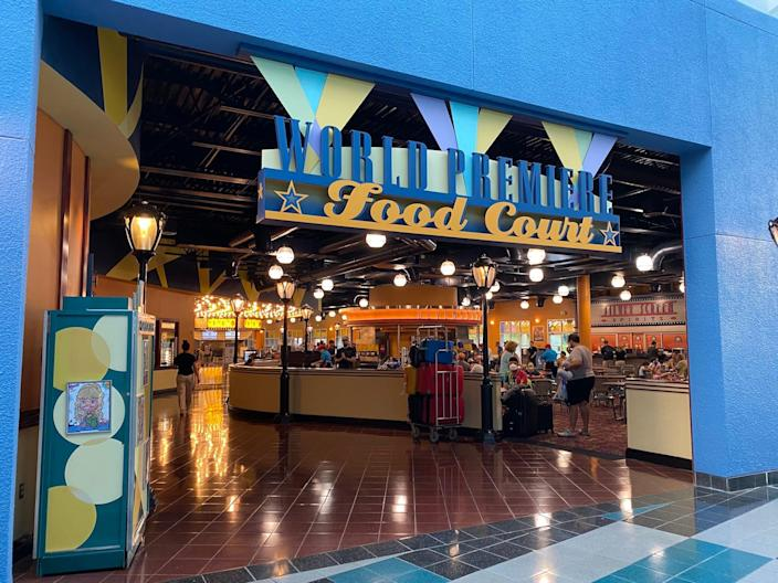 A view of the All-Star Movies Resort food court.