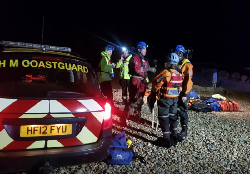 Six people were rescued by emergency services after getting stuck in mud flats (Picture: Facebook/Southbourne Coastguard)
