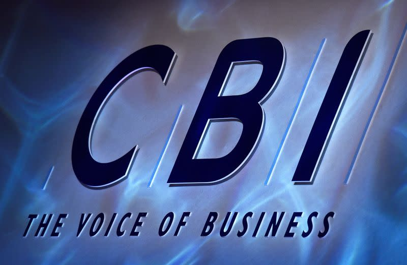 FILE PHOTO: A Confederation of British Industry (CBI) logo is seen during their annual conference in London