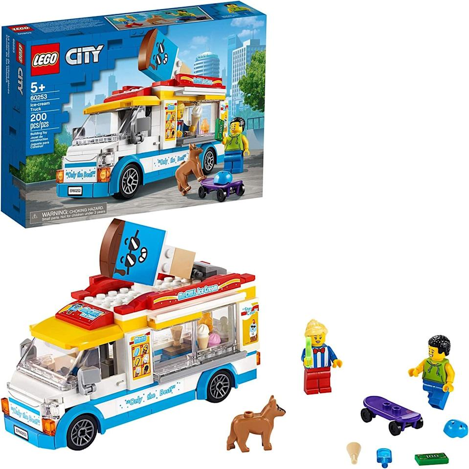 "<p>The <a href=""https://www.popsugar.com/buy/Lego-City-Ice-Cream-Truck-551162?p_name=Lego%20City%20Ice-Cream%20Truck&retailer=amazon.com&pid=551162&price=20&evar1=moms%3Aus&evar9=47244751&evar98=https%3A%2F%2Fwww.popsugar.com%2Ffamily%2Fphoto-gallery%2F47244751%2Fimage%2F47244754%2FLego-City-Ice-Cream-Truck&list1=toys%2Clego%2Ctoy%20fair%2Ckid%20shopping%2Ckids%20toys&prop13=api&pdata=1"" class=""link rapid-noclick-resp"" rel=""nofollow noopener"" target=""_blank"" data-ylk=""slk:Lego City Ice-Cream Truck"">Lego City Ice-Cream Truck</a> ($20) has 200 pieces and is best suited for kids ages 5 and up.</p>"