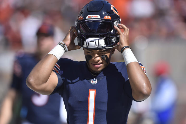 Rookie quarterbacks like Chicago's Justin Fields are coming into the league with grand expectations and not much time to deliver on them. (AP Photo/David Richard)