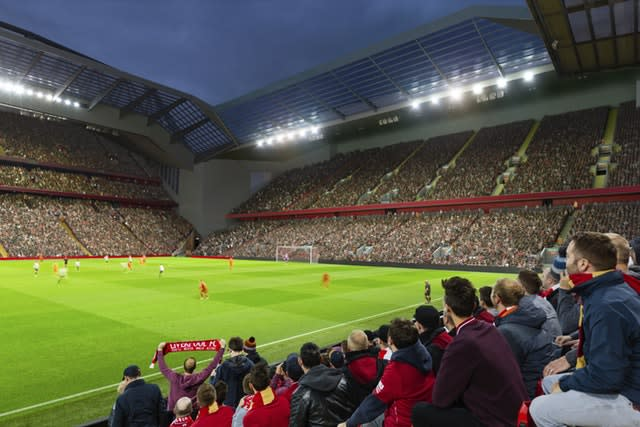 Liverpool's matchday revenue will increase further if a proposed redevelopment of the Anfield Road Stand gets the go-ahead