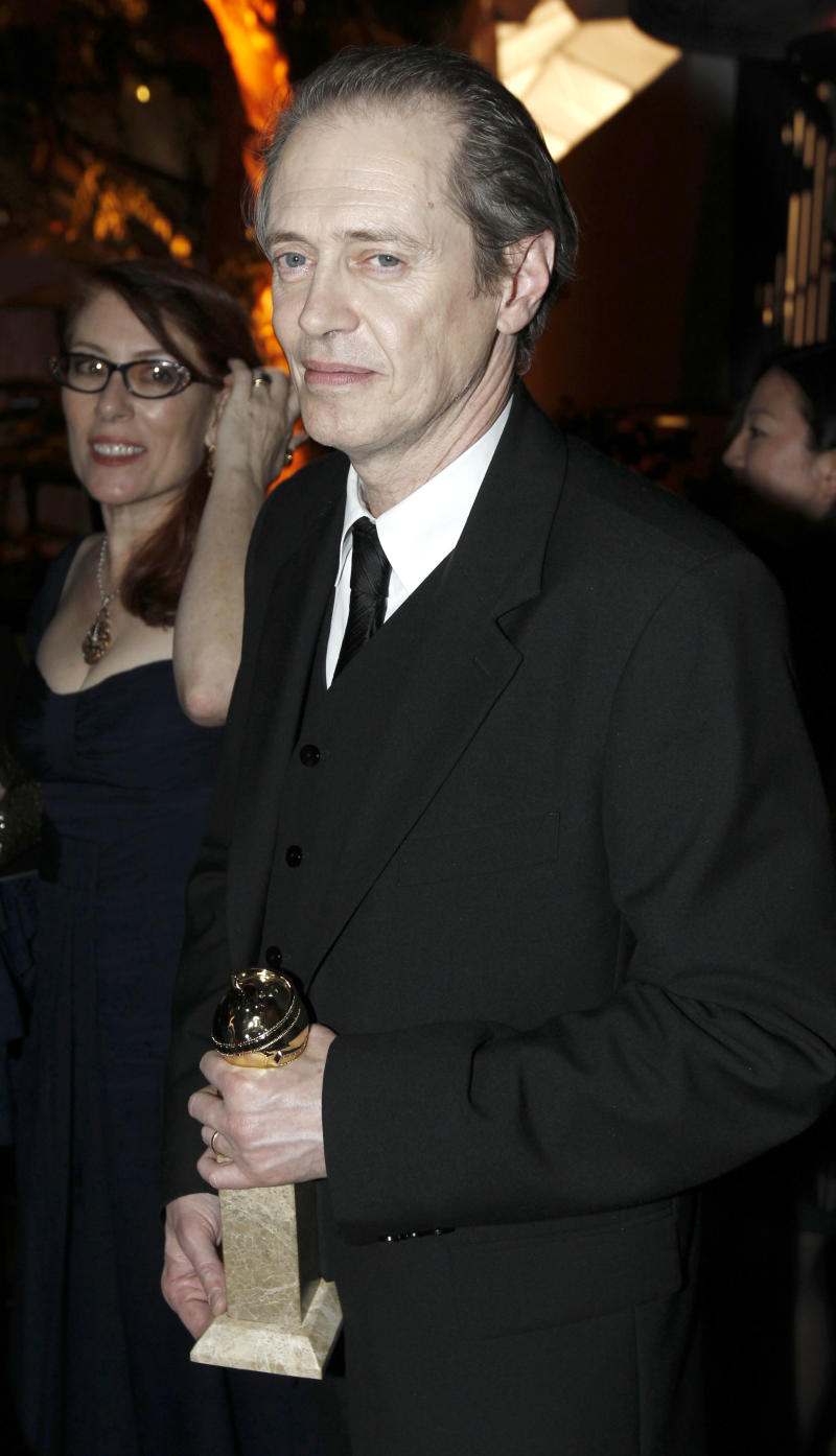 Actor Steve Buscemi attends the Weinstein Company after party at the Golden Globe Awards Sunday, Jan. 16, 2011, in Beverly Hills, Calif. (AP Photo/Matt Sayles)
