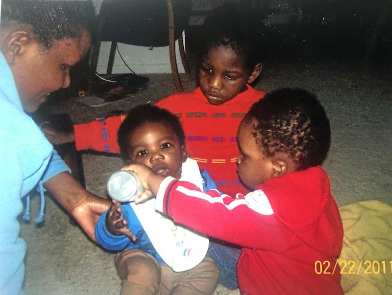 Baby Elijah Higgins with his family (Courtesy Fortunate Higgins)