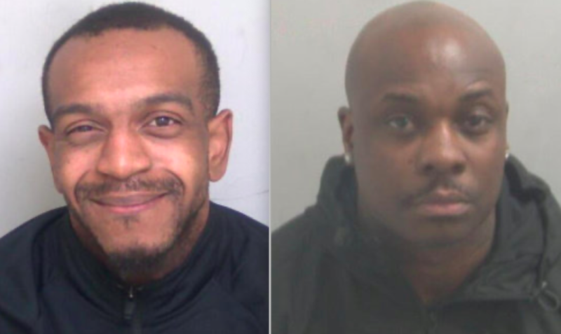 James Willoughby (left) and Mac Cheremeh (right) were both jailed for 10 years each. (SWNS)
