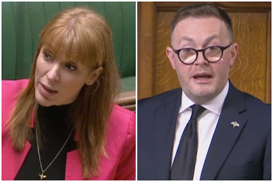'Scum' row: Angela Rayner and Chris Clarkson. (Parliamentlive.tv)