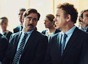 <p>Sporting a gut and a weirdo mustache as a man looking for a spouse — to avoid being transformed into an animal — Farrell delivers perhaps the most droll and deft performance of his career in this bizarre comedy. (Photo: A24) </p>