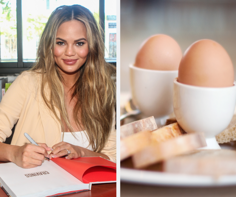 "Chrissy Teigen Eats ""Night Eggs"" to Help Her Sleep—And Twitter Doesn't Get It"