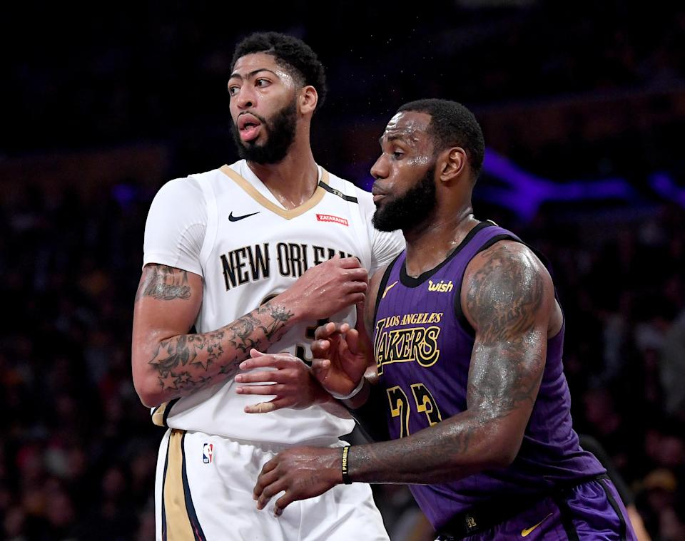 Anthony Davis could be eyeing a pairing with LeBron James. (Getty)