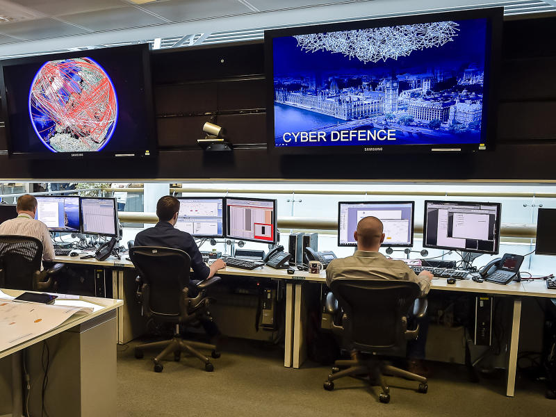 The 24 hour Operations Room inside GCHQ, Cheltenham: Getty