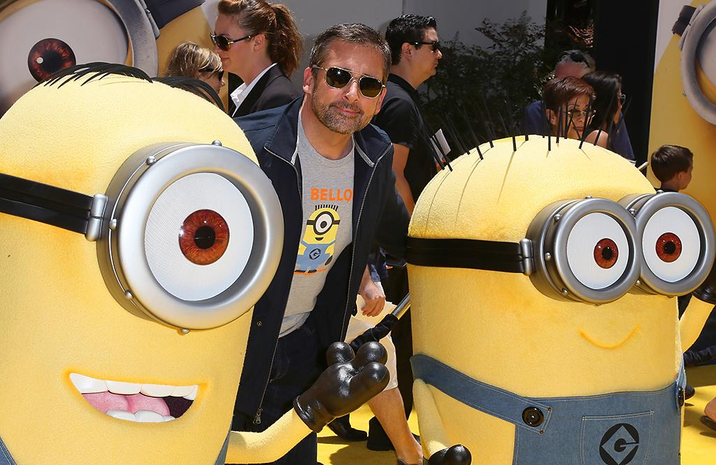 "UNIVERSAL CITY, CA - JUNE 22:  Actor Steve Carell attends the premiere of Universal Pictures' ""Despicable Me 2"" at the Gibson Amphitheatre on June 22, 2013 in Universal City, California.  (Photo by David Livingston/Getty Images)"