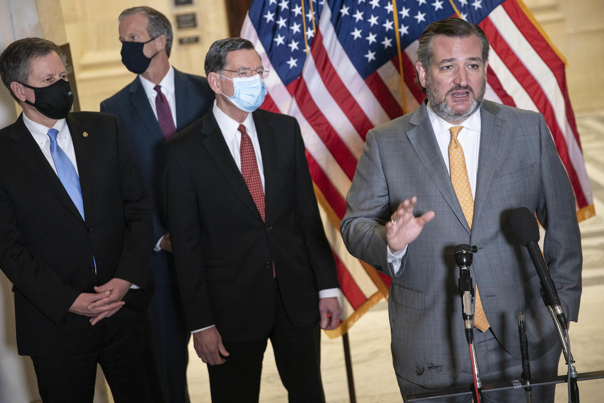 Ted Cruz suggests he will no longer wear a mask in the Capitol