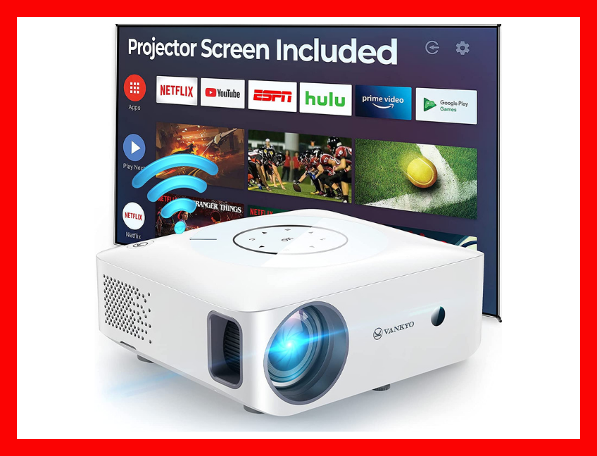 Comes with a free 100-inch projection screen too. That's, like, zero cents per inch! (Photo: Amazon)