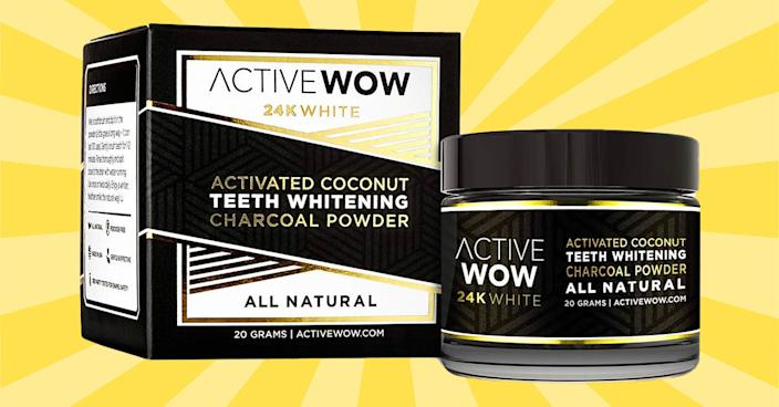This charcoal powder is an all-natural teeth-whitening solution that actually works. (Photo: Amazon)