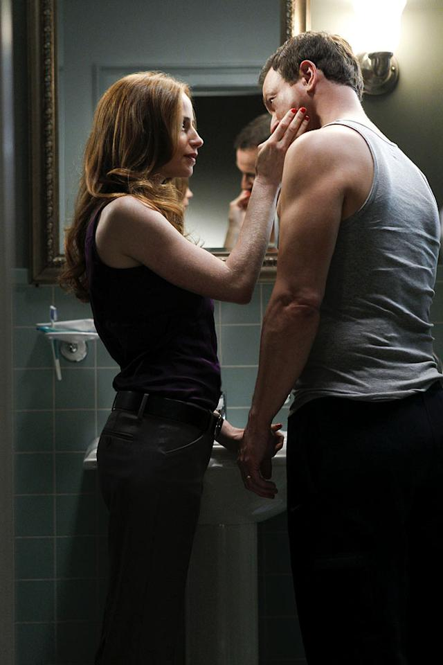 """Indelible"" -- On Sept. 11, 2001, Mac and Claire Taylor (Gary Sinise and Jaime Ray Newman) get ready for work, in a flashback on the eighth season premiere of CSI: NY, Friday, Sept. 23 (9:00-10:00 PM, ET/PT) on the CBS Television Network. Photo: Cliff Lipson/CBS ©2011 CBS Broadcasting, Inc. All Rights Reserved. CSI: New York"