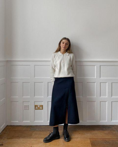 """<p>Opt for conservative styles with chunky shoes and knits.</p><p><a class=""""link rapid-noclick-resp"""" href=""""https://go.redirectingat.com?id=127X1599956&url=https%3A%2F%2Fwww.uniqlo.com%2Fuk%2Fen%2Fproduct%2Fwomen-uniqlo-u-cotton-twill-flared-skirt-437059COL09INS026000.html&sref=https%3A%2F%2Fwww.elle.com%2Fuk%2Ffashion%2Fg29844296%2Fcasual-clothes%2F"""" rel=""""nofollow noopener"""" target=""""_blank"""" data-ylk=""""slk:SHOP NOW"""">SHOP NOW</a></p><p><a href=""""https://www.instagram.com/p/CG7r2T6Bh2-/"""" rel=""""nofollow noopener"""" target=""""_blank"""" data-ylk=""""slk:See the original post on Instagram"""" class=""""link rapid-noclick-resp"""">See the original post on Instagram</a></p>"""