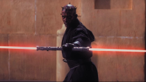 <p>The Sith warrior made an impression on screen with his double-sided lightsaber and his martial arts moves in <em>The Phantom Menace. </em></p>