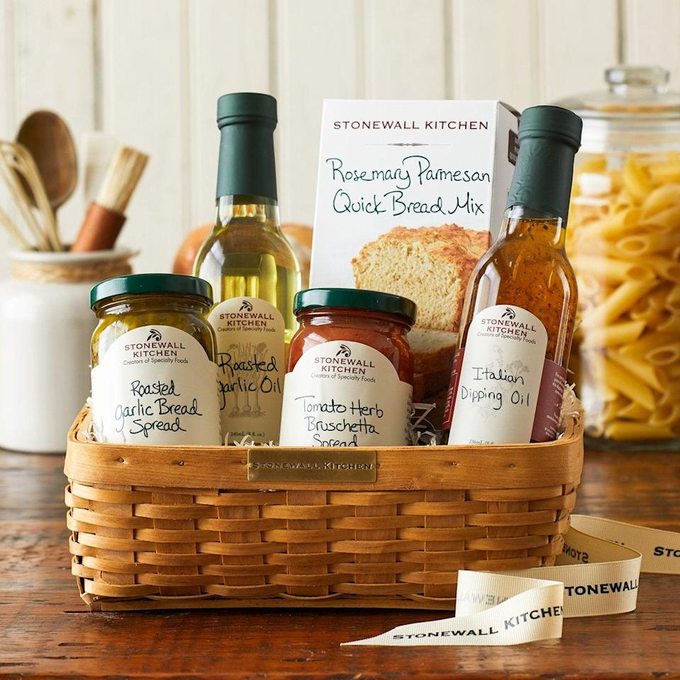 <p>The person who loves to cook will be so happy to receive this <span>Stonewall Kitchen Antipasto Gift Basket</span> ($65).</p>