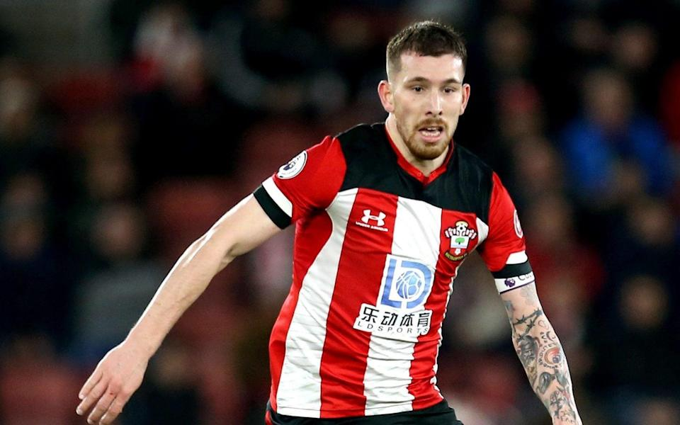 Pierre-Emile Hojbjerg playing for Southampton -Pierre-Emile Hojbjerg has Tottenham medical ahead of move from Southampton - PA