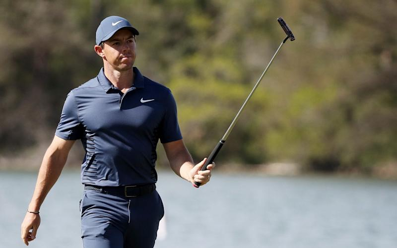 Rory McIlroy was beaten by Peter Uilhein at the WGC Dell Matchplay - Getty Images North America