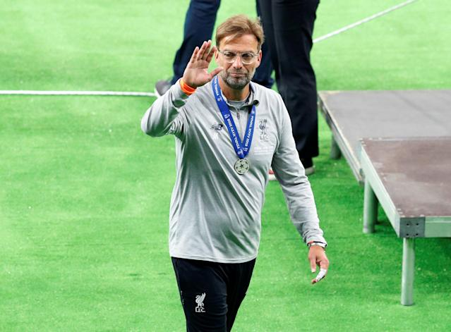 Soccer Football - Champions League Final - Real Madrid v Liverpool - NSC Olympic Stadium, Kiev, Ukraine - May 26, 2018 Liverpool manager Juergen Klopp looks dejected after losing the Champions League final REUTERS/Phil Noble