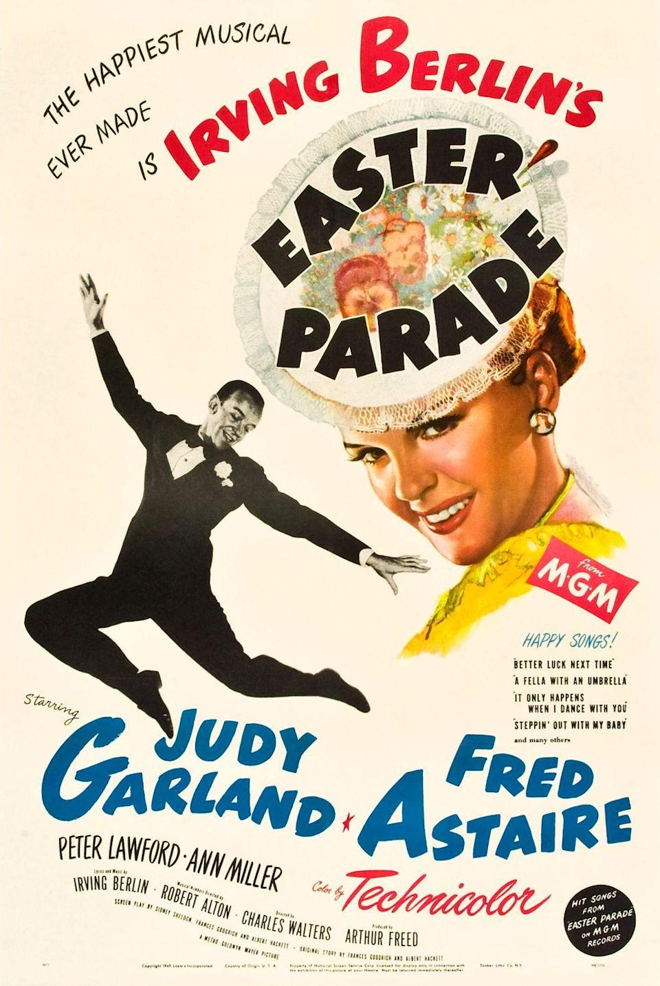 """<p>The classic combo of Fred Astaire and Judy Garland will leave you dazzled and entertained as this movie takes you back to a glamorous era of old-school Hollywood. </p><p><a class=""""link rapid-noclick-resp"""" href=""""https://www.amazon.com/gp/video/detail/B00C2Y5BLK/ref=atv_dl_rdr?tag=syn-yahoo-20&ascsubtag=%5Bartid%7C10070.g.16643651%5Bsrc%7Cyahoo-us"""" rel=""""nofollow noopener"""" target=""""_blank"""" data-ylk=""""slk:STREAM NOW"""">STREAM NOW </a></p>"""