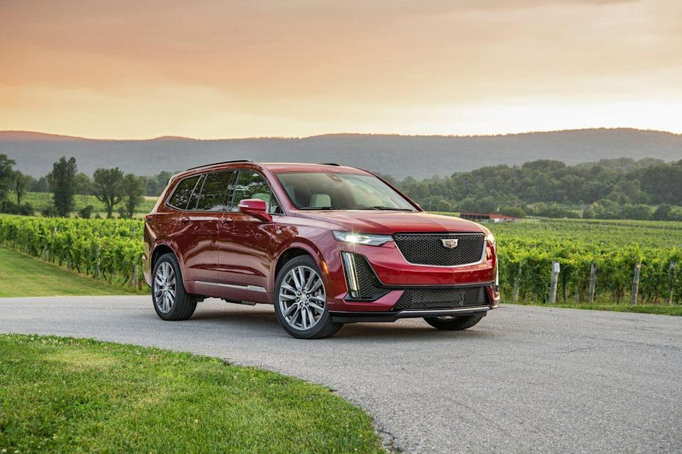 """<p>GM's new C1xx platform is the underpinnings of the <a href=""""https://www.caranddriver.com/cadillac/xt6"""" rel=""""nofollow noopener"""" target=""""_blank"""" data-ylk=""""slk:Cadillac XT6"""" class=""""link rapid-noclick-resp"""">Cadillac XT6</a> and <a href=""""https://www.caranddriver.com/gmc/acadia"""" rel=""""nofollow noopener"""" target=""""_blank"""" data-ylk=""""slk:GMC Acadia"""" class=""""link rapid-noclick-resp"""">GMC Acadia</a>. According to the IIHS, the passenger-side front door hinge pillar and A-pillar were reinforced, and models built after October 2019 received improved side curtain airbags. Cadillac's newest three-row also received a five-star rating from NHTSA. Its safety ratings are strong, and safety features like automated emergency braking with pedestrian detection, lane-departure warning with lane-keeping assist are both standard. A $1300 Driver Assist package available on XT6 Premium Luxury trim or higher, adds adaptive cruise control, rear-automated emergency braking, and seat belts that automatically tighten during emergency braking.</p><p><a class=""""link rapid-noclick-resp"""" href=""""https://www.caranddriver.com/cadillac/xt6"""" rel=""""nofollow noopener"""" target=""""_blank"""" data-ylk=""""slk:MORE XT6 INFO"""">MORE XT6 INFO</a></p>"""