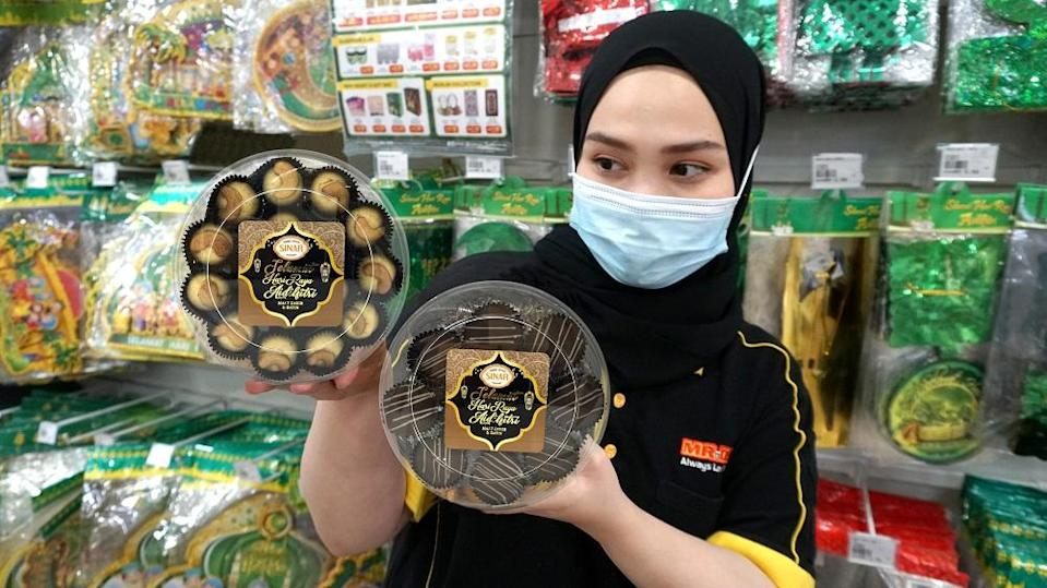 Kuih Raya and over 150 Raya essentials are up for grabs at low prices at 280 MR.DIY stores nationwide. ― Picture courtesy of MR.DIY