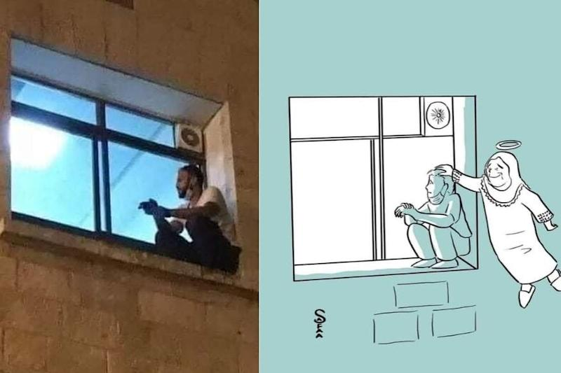 Palestinian Man Scales Hospital Wall to Bid Final Goodbye to His Mother Who Died of Covid-19