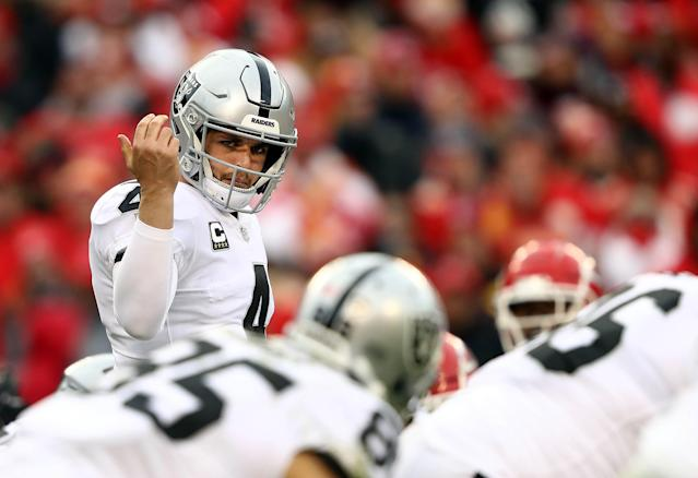 Can Derek Carr play well enough this season where the Oakland Raiders won't draft a QB in 2020? (Getty Images)