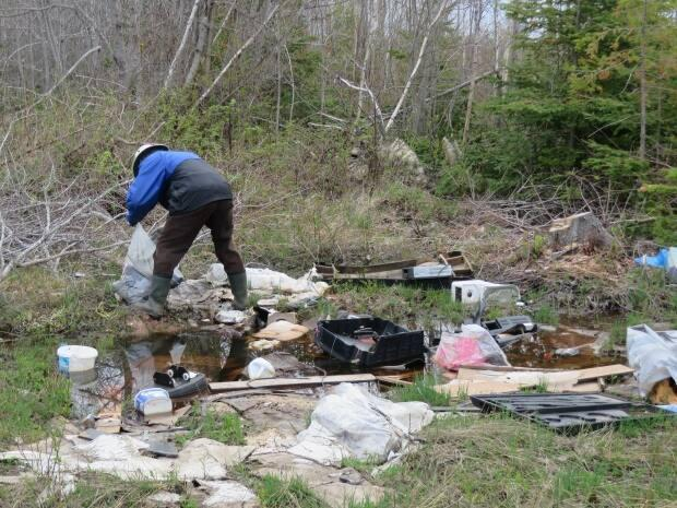 Cleaning up trash is a great way to mark Earth Day, coming up Thursday. (Submitted by P.E.I. Women's Institute - image credit)