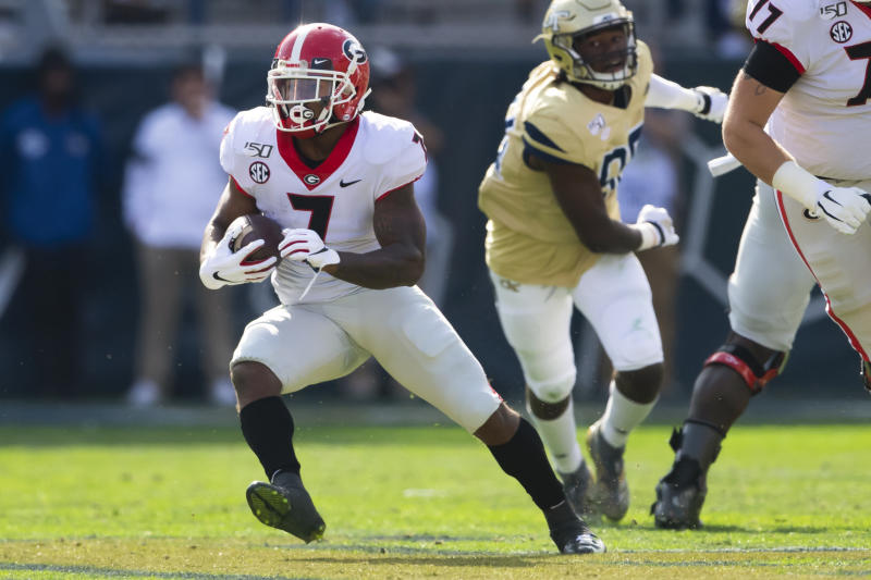 Georgia running back D'Andre Swift says he'll enter NFL draft