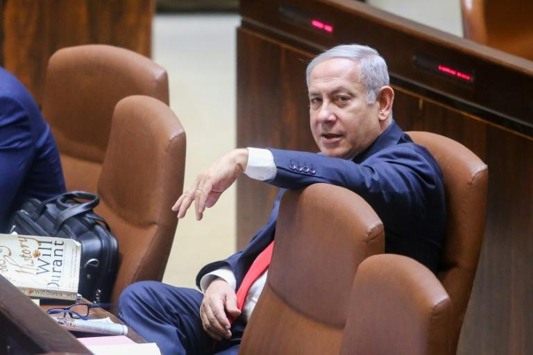 Israeli Prime Minister Benjamin Netanyahu attends a Knesset session ahead of the vote on the National Law on July 18, 2018