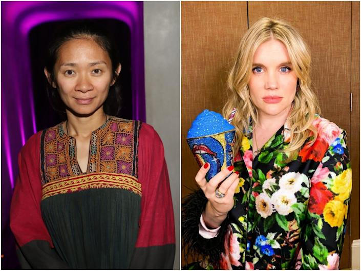 Chloe Zhao and Emerald Fennell