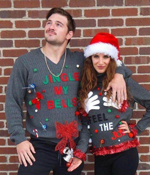 "Get the set <a href=""https://www.etsy.com/listing/568934367/couples-ugly-christmas-sweater-ugly?ga_order=most_relevant&ga_search_type=all&ga_view_type=gallery&ga_search_query=couple%20sweaters&ref=sr_gallery_19"" target=""_blank"">here</a>."