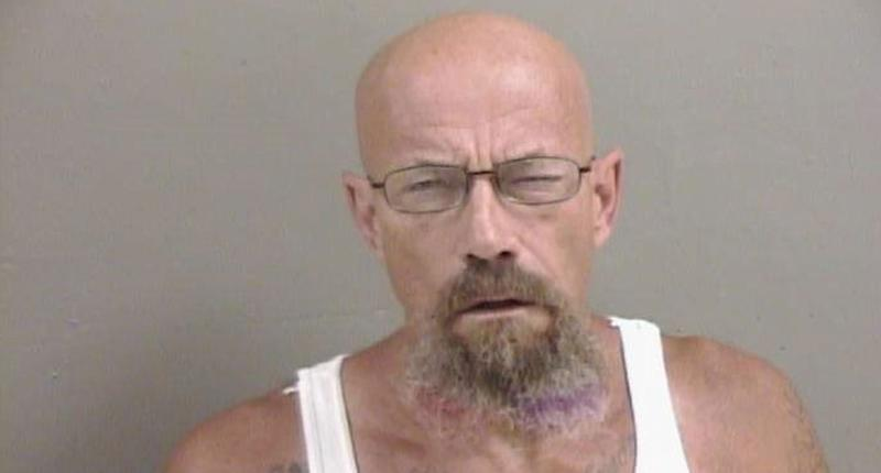 Pictured is a mugshot of Todd W Barrick Jr, 50, of Galesburg who's wanted for allegedly breaching probation. He's accused of meth possession.