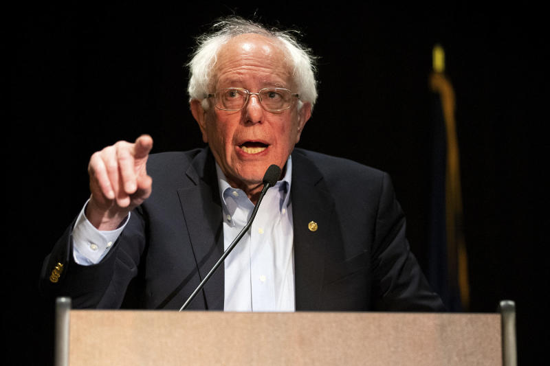 2020 Democratic presidential hopeful Bernie Sanders spoke about phasing out fossil fuels during his CNN town hall Monday night. (ASSOCIATED PRESS)