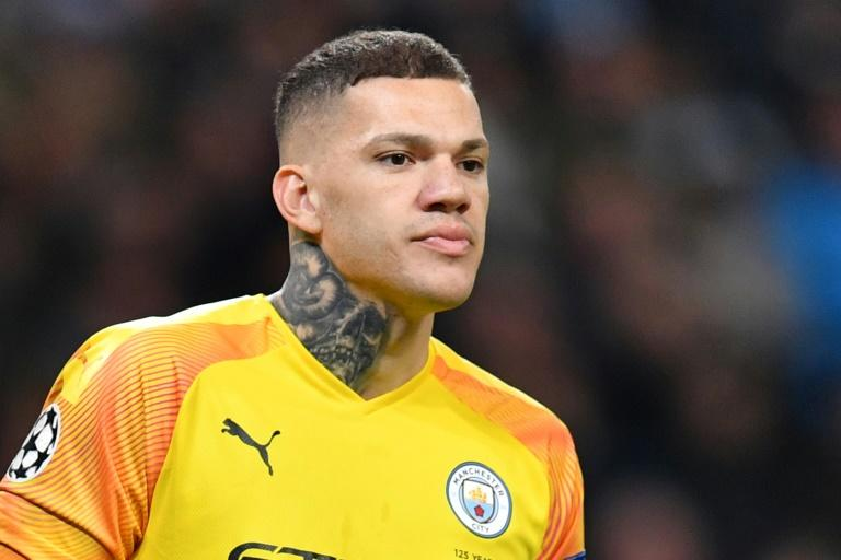 Big miss: Manchester City will be without the injured Ederson for Sunday's visit to Liverpool
